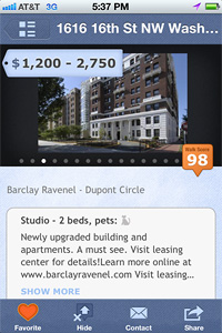 screen shot of rental details and photos