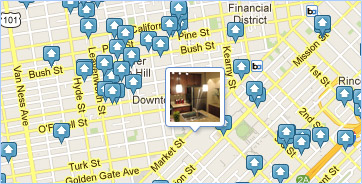 featured rental photo pin on apartment search map