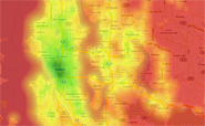 Transit Score Heat Map of Seattle.