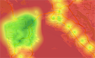 Transit Score Heat Map of San Francisco.