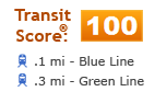 screenshot of transit information used in a web application