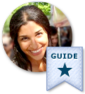 real estate agent with a neighborhood guide badge